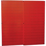 Wall Control Combo Metal Pegboard Panel, Red, 2/Pack