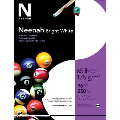 Neenah Astrobrights® Colored Card Stock, 8 1/2 x 11, Stardust White, 250/Pack