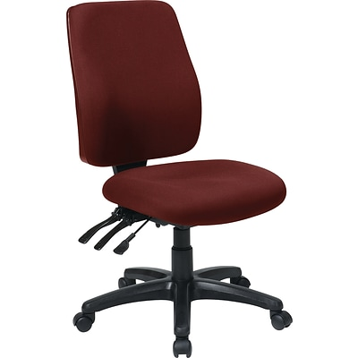 Office Star WorkSmart™ FreeFlex® Fabric High Back Ergonomic Task Chair with Ratchet Back, Burgundy