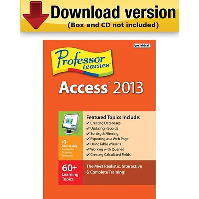 Individual Software Professor Teaches Access 2013 for Windows (1-User) [Download]