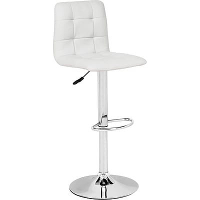 Zuo® Leatherette Oxygen Bar Stool; White, Each