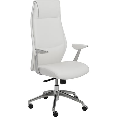 Euro Style™ Crosby Leatherette High Back Office Chair; White, Box