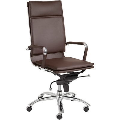 Euro Style™ Gunar Pro Leatherette High Back Office Chair; Brown, Box
