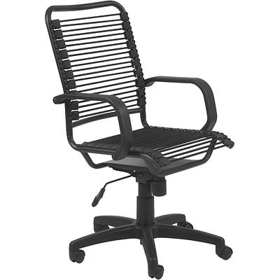 Euro Style Bradley Bungie Bungee Cord Loops Office Chair Black
