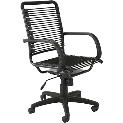 Euro Style Bungie Bungee Cord Loops High Back Office Chair Graphite Black Box