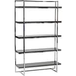Euro Style™ Gilbert 62 Wood 5-Shelf Unit, Black