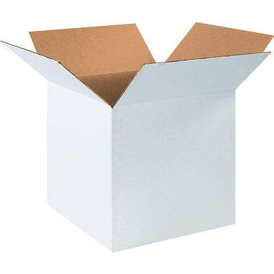 16 x 16 x 16 Shipping Boxes, 32 ECT, White, 25/Bundle (161616W)