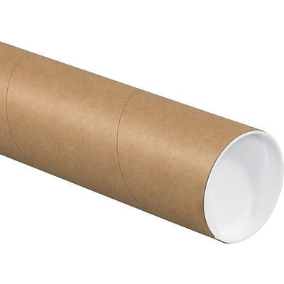 3 x 24 Kraft Heavy-Duty Mailing Tubes with Caps