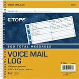 Tops® Voice Message Log Book