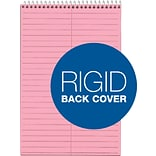 TOPS® Prism™ Steno Book, Pink, Gregg Ruled, 6 x 9, 80 Sheets, 4/Pack