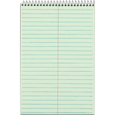 Tops® Steno Pads; 6x9, Gregg Rule, Green Tint, 80 Sheets/Pad