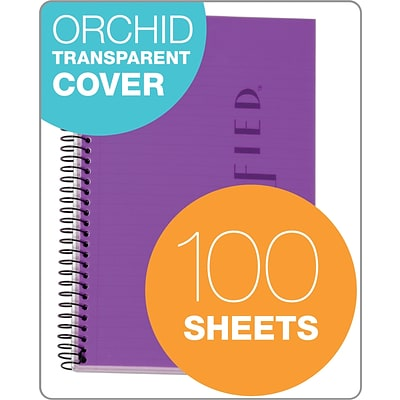 TOPS® Classified™ Colors Business Wirebound Notebook, College Ruled, Orchid, 8 1/2 x 5 1/2