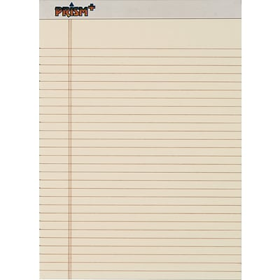 TOPS Prism+ Writing Notepads, 8-1/2 x 11-3/4, Legal Ruled, Ivory, 50 Sheets/Pad, 12 Pads/Pack (63130)