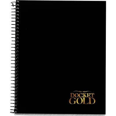 Tops® Docket® Gold Project Planner Pad, Side Wire Bound, 8-1/2 x 6-3/4, White, 70 Sheets