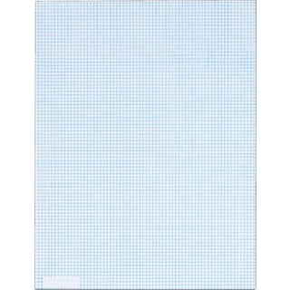 Quadrille Notepad Graph Paper, White, 8 Sq/In, 20 lb, 50 Sheets/Pad, 8-1/2 x 11