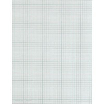 TOPS Cross Section Pad, 8-1/2 x 11, 5 x 5 Graph Ruled, White, 50 Sheets/Pad (35051)