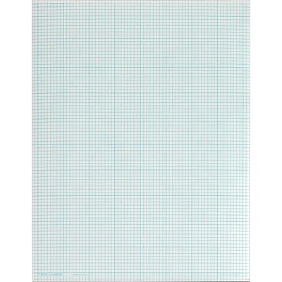 TOPS Cross Section Pad, 8-1/2 x 11, 8 x 8 Graph Ruled, White, 50 Sheets/Pad (35081)