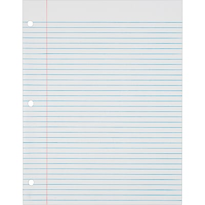TOPS® Loose Notebook Filler Paper, White, College Ruled, 11 x 8 1/2, 500 Sheets