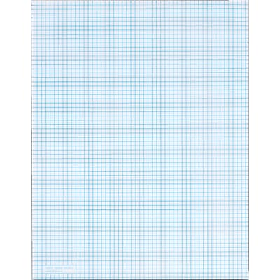 TOPS Notepad, 8.5 x 11 (US letter), Graph Ruled, White, 50 Sheets/Pad, 1 Pad/Pack (TOP 33061)