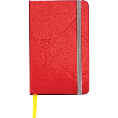 TOPS® Idea Collective™ Journals, 3-1/2x5-1/2, Wide Ruling, Red, 192 Sheets, Embossed