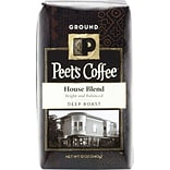 Peets House Blend, Deep Roast Ground Coffee, 12 oz