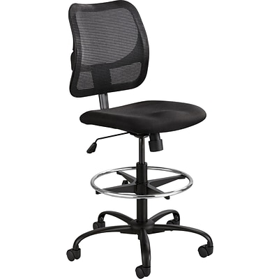 Safco® Vue™ Extended-Height Chair, Mesh Stool, Black