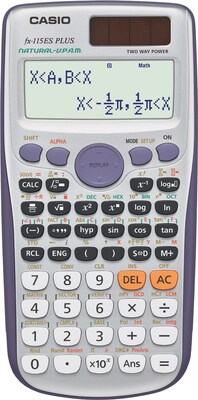 Casio® FX115ESPLUS Advanced Scientific Calculator, Silver
