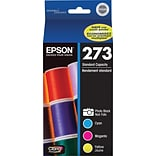 Epson 273 Photo Black & Color C/M/Y Ink Cartridges (T273520-S), Multi-pack (4 cart per pack)