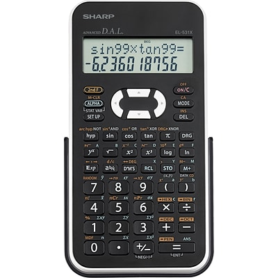 Sharp® EL531XBWH Scientific Calculator, 12-Digit LCD, 2-Color 183-Function, Black/White