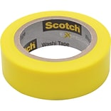 Scotch® Expressions Washi Tape; Yellow Solid, 0.59 x 393