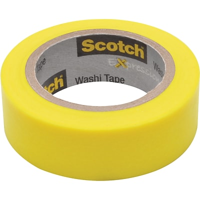 Scotch® Expressions Washi Tape, Yellow Solid, 0.59 x 393