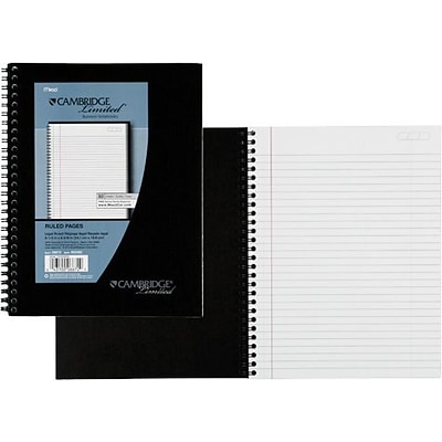 Mead® Cambridge Business Notebooks, 6-5/8 x 9-1/2, Legal Ruled, White, 80 Sheets/Pad