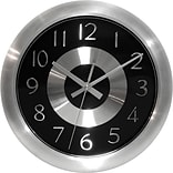 Mercury Black/Shiny Aluminum 10 Wall Clock