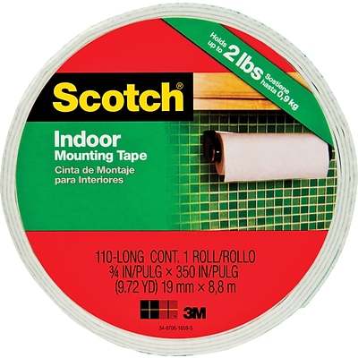 Scotch® Permanent Heavy Duty Mounting Tape, 3/4 x 9.7 yds, 1 Core