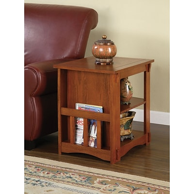 Powell® Magazine Cabinet Table, Mission Oak, 24 x 18 1/8 x 22 1/2