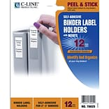 C-Line Self-Adhesive Ring Binder Label Holders, 1 3/4 x 3 1/4 for 2 to 3 Binder Capacity