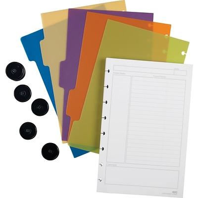 Arc Customizable Notebook System Accessory Kit, Junior Size, 5-1/2 x 8-1/2