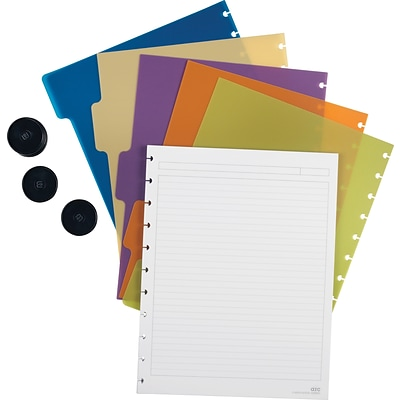 Arc Customizable Notebook System Accessory Kit, Letter Size, 8-1/2x11