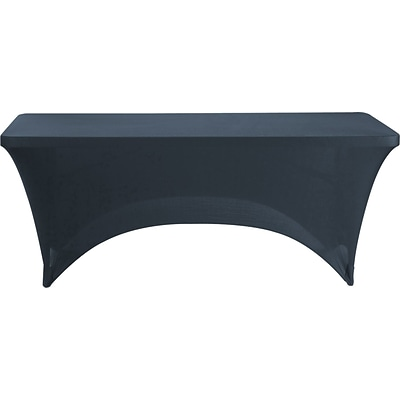 Iceberg Rectangle Stretch-Fabric Table Cover, Black, 30 x 72