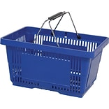 Wire Handle Hand Basket, 28 Liter, Dark Blue, 12 Baskets/Pack