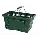 Wire Handle Hand Basket, 28 Liter, Dark Green, 12 Baskets/Pack