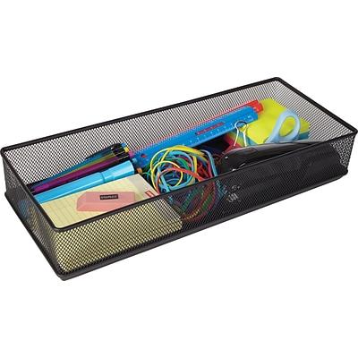 Staples Wire Mesh Drawer Storage Black 2 7 10h X 16w