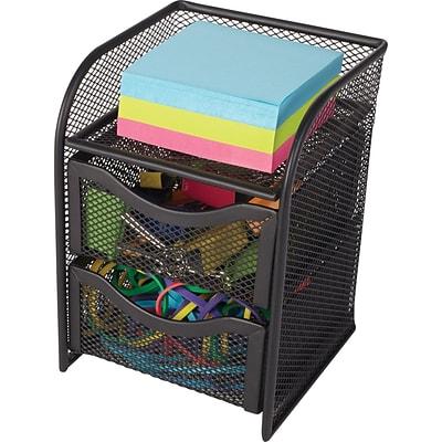 Staples Wire Mesh Desktop Organizer Black 7h X 4 1 2w