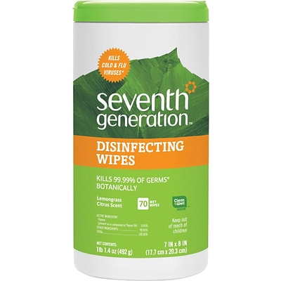 Seventh Generation™ Botanical Disinfecting Multi-Surface Wipes, 70 Count (22813)