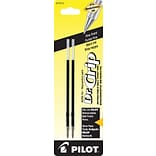Pilot Dr. Grip Ball Point Retractable Refill, Fine Point, Black, 2/Pack (77210)