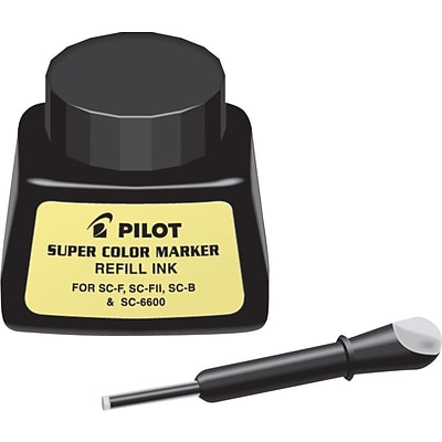 Pilot Permanent Marker Refill Ink, Black, Each (PIL43500)