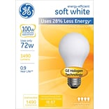 72 Watt GE® Energy-Efficient A19 Lightbulb, Soft White