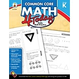 Grade K Common Core Math 4 Today Workbook
