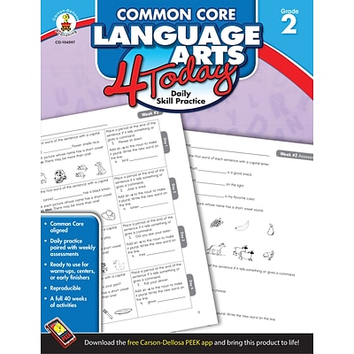 Carson-Dellosa™ Common Core Language Arts 4 Today Workbook, Grade 2