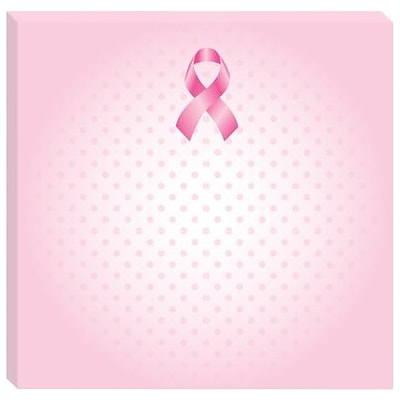 Post-it® Notes for Breast Cancer Awareness, 3 x 3, Pink, 3 Pads/Pack (6333-BCA-DOT)